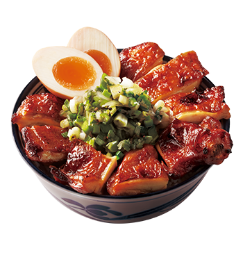 Grilled Teriyaki Boneless Chicken Leg Donburi with Salted Green Onion and Soft Boiled Egg