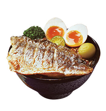 Grilled Sea Bass Donburi with Poached Dried Seaweed