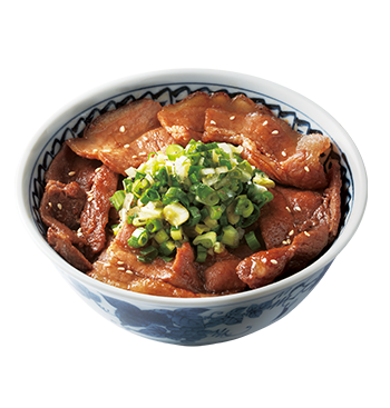 Grilled Salted Green Onion Beef/Pork Donburi with Soft Boiled egg